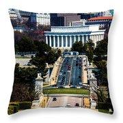 Arlington Memorial Bridge Leads Throw Pillow