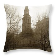 Arlington Street Church Unitarian Universalist Boston Massachusetts Circa 1900 Throw Pillow