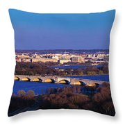 Arlington, Va - Wash D.c. - Panoramic Throw Pillow