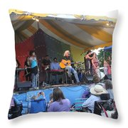 Arlo Guthrie And Family Throw Pillow