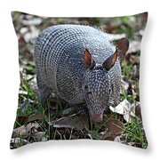 Armadillo Closeup Throw Pillow