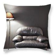 Armchair And Floor Lamp Throw Pillow