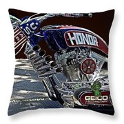 Armed Forces Tribute Bike Throw Pillow