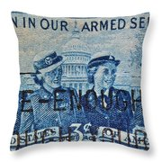 Armed Services Women Stamp Throw Pillow