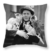 Armful Of Cats And Dogs Throw Pillow