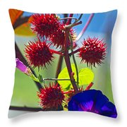 Armored Beauty Throw Pillow