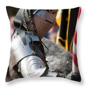 Armored Joust Knight Throw Pillow