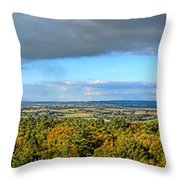 Armorican Landscape Throw Pillow by Olivier Le Queinec