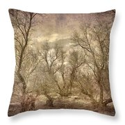 Arms Ghost Forest Throw Pillow
