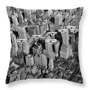 Army Air Corp Over Manhattan Throw Pillow