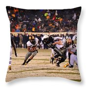 Army And Navy In The Snow Throw Pillow