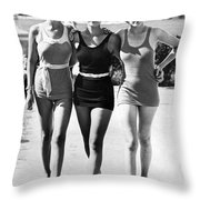 Army Bathing Suit Trio Throw Pillow