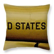 Army Chopper Throw Pillow by Benjamin Yeager