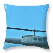 Army Helicopter Throw Pillow