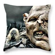 Army Of Orcs Throw Pillow
