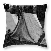 Army Tents Circa 1800s Throw Pillow