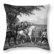 Army Wagon Train Throw Pillow