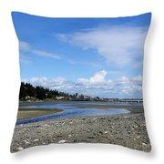 Arness Park Beach Throw Pillow