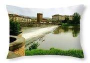 Arno River 1 Throw Pillow