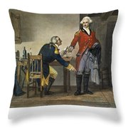 Arnold And Andre, 1780 Throw Pillow