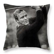 Arnold Palmer Pro-am Golf Photo Pebble Beach Monterey Calif. Circa 1960 Throw Pillow