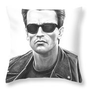 Arnold Schwarzenegger Terminator Throw Pillow