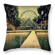 Arnolds Park Throw Pillow