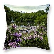 Around Bethesda Fountain Throw Pillow
