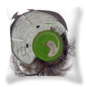 Around The Barn Throw Pillow