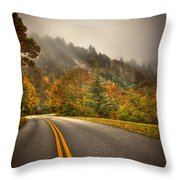 Around The Bend Clouds Along The Blue Ridge Parkway Throw Pillow