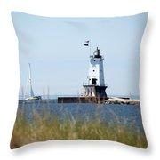 Around The Lighthouse Throw Pillow