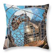 Around The World In Nyc Throw Pillow
