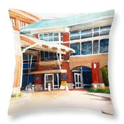 Around Work Throw Pillow