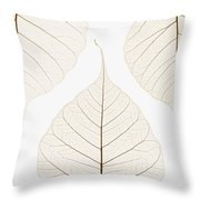 Arranged Leaves Throw Pillow