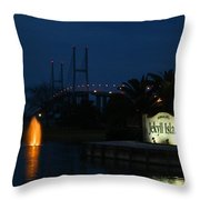 Arrival At Jekyll Island Throw Pillow