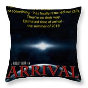 Arrival Faux Movie Poster Throw Pillow