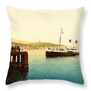 Arrival Of Boulogne Boat Folkestone - England  Throw Pillow