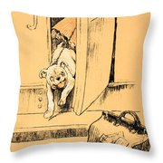 Arriving At Our Destination Throw Pillow by Cecil Charles Windsor Aldin