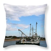 Arriving At The Harbor Throw Pillow