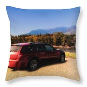 Arriving In Montana Throw Pillow