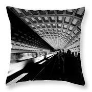 Arriving Metro Throw Pillow