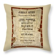 Arrow Rock - Gunsmith Sign Throw Pillow