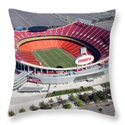 Arrowhead Stadium Kansas City Missouri Throw Pillow