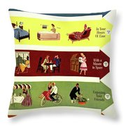 Arrows And Illustrations Throw Pillow