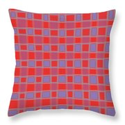 Art 1906 Elegant Graphic Pattern Squares Colorful Digitalart Graphicart Surface Texture Design Multi Throw Pillow