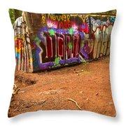 Art Along The Cheakamus River Throw Pillow