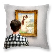 Art Appreciation Throw Pillow