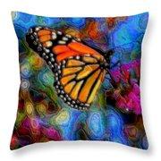 Art B-fly Throw Pillow