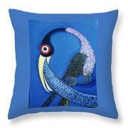 Art Bird Throw Pillow