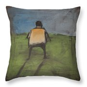 art critic relieves himself on Rothko's field Throw Pillow
